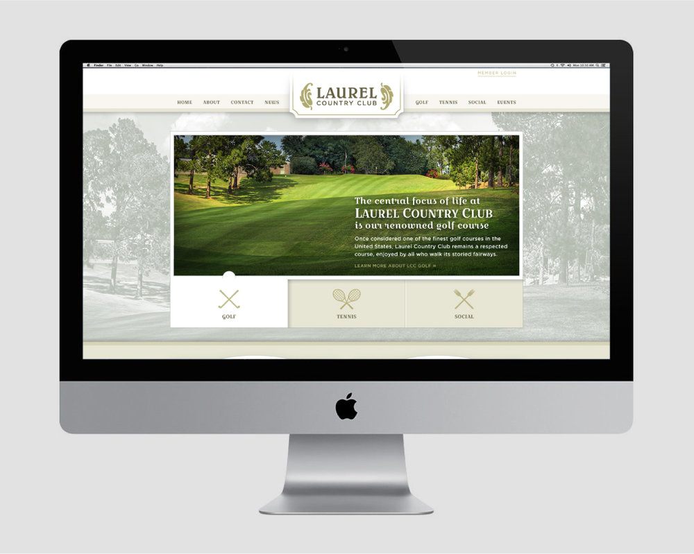 LAUREL COUNTRY CLUB    Website Design & Development