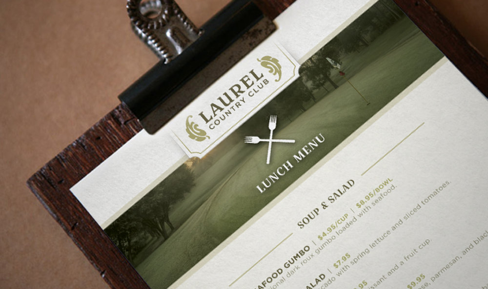 LAUREL COUNTRY CLUB    Restaurant Menu