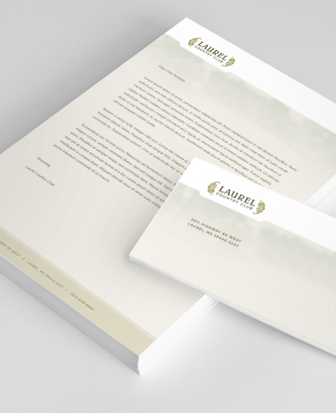 LAUREL COUNTRY CLUB    Stationery