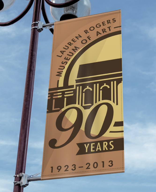 LAUREN ROGERS MUSEUM OF ART    90th Anniversary Light Post Banners