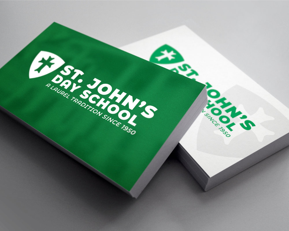 ST. JOHN'S DAY SCHOOL    Business Cards