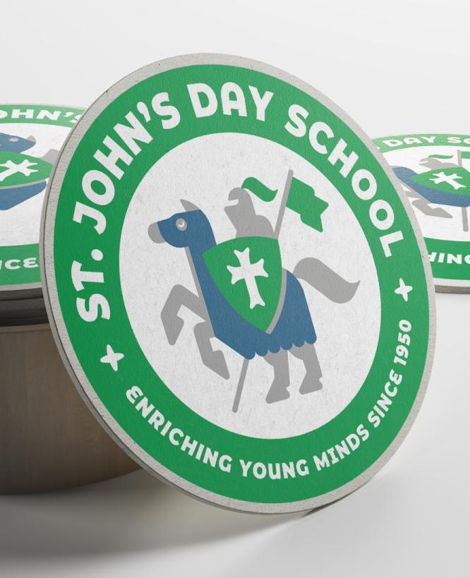 ST. JOHN'S DAY SCHOOL    Crusader Stickers