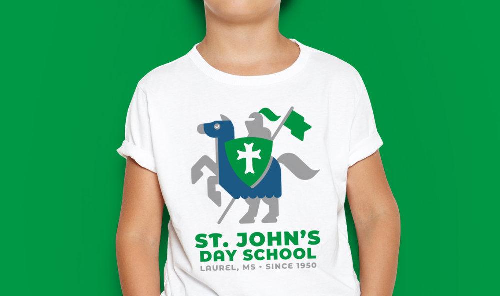 ST. JOHN'S DAY SCHOOL    Crusader T-Shirt