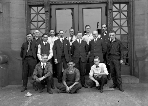 Crew for testing the No. 4 Pumping Station in Aspinwall, date unknown