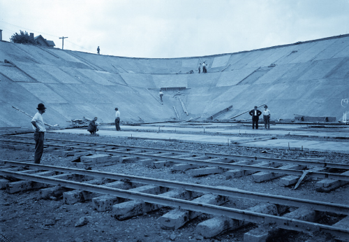 Lanpher Reservoir Construction, 1914
