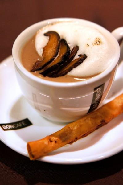 Recipes by SHATEC - 30th Anniversary Dinner Set Menu - Mushroom Coffee with Crispy Cinnamon Roll with Prawn Paste