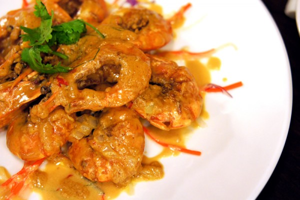 Red House Seafood 68 Prinsep Street - Tiger Prawns with Signature Creamy Custard Sauce