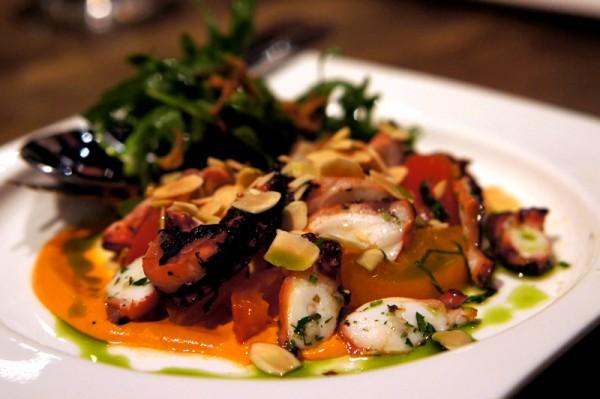 Bar-Roque Grill Amara Hotel - Chef Stephane Istel & Kori Millar - Char-Grilled Fremantle Octopus Salad