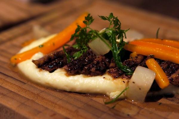 Bar-Roque Grill Amara Hotel - Chef Stephane Istel & Kori Millar - Rotisserie Challans Duck Served