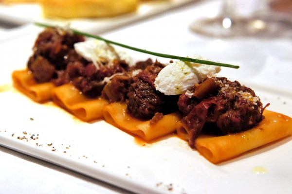 The Lighthouse, Fullerton Hotel Singapore - New Cucina Costiera Menu - Gragnano's Paccheri in Naples Style with Tomato Braised Beef Ragout