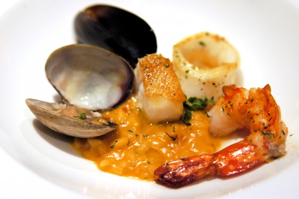 The Lighthouse, Fullerton Hotel Singapore - New Cucina Costiera Menu - Sea Rock Style Risotto with Langoustine, Crab, Mussels & Clams