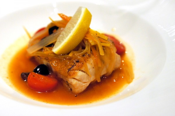 The Lighthouse, Fullerton Hotel Singapore - New Cucina Costiera Menu - Spotted Garoupa Simmered in Crazy Water Sauce