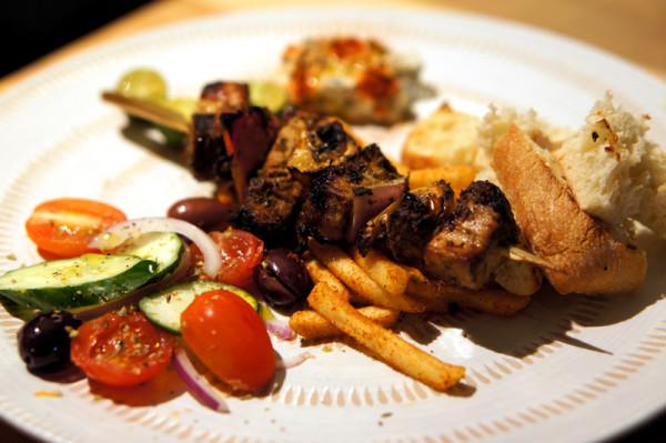 Portico Singapore - Chef Leandros Stagogiannis - Pork Belly Kebab with Paprika Fries & Tsatziki