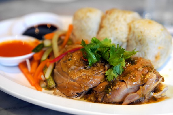 Ujong Raffles Hotel - Chef Shen Tan The Wok & Barrel - Singapore's Chicken Rice Onigiri