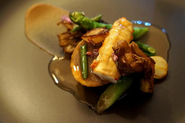 Fine Dining Restaurant Sorrel, Boon Tat Street - Chicken Roulade with Langoustine, Onion & Maitake