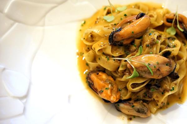 Fine Dining Restaurant Sorrel, Boon Tat Street - Tagliatelle of Langoustine & Mussels