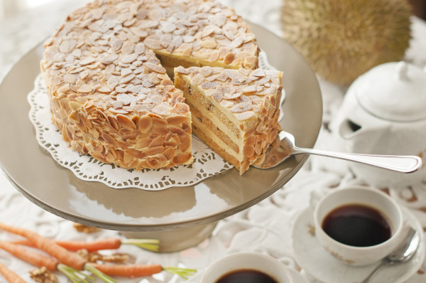 Goodwood Park Durian Carrot-Walnut Cake