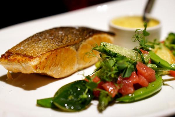 European restaurant Ash & Elm - InterContinental Singapore - Tasmanian Salmon Fillet a la Plancha