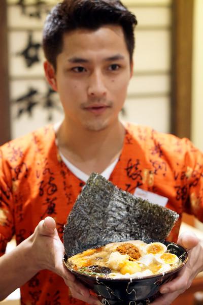 Ramen Keisuke Lobster King by Keisuke Takeda - Spicy Miso Lobster Broth Ramen Served