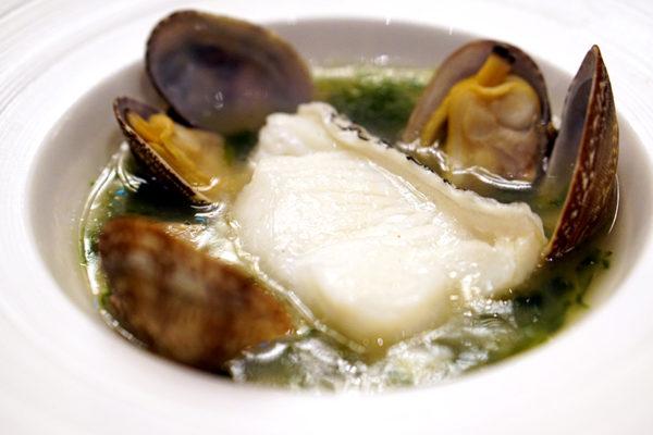 Shisen Hanten by Chen Kentaro, Mandarin Orchard Singapore - Steamed Sea Perch with Clams & Fresh Seaweed