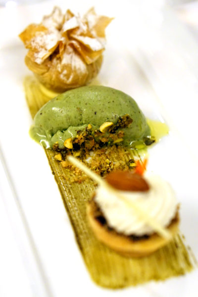 New Basilissimo Menu at Basilico, Regent Singapore - Of the Mediterranean and Alps - Desserts - Toscano Black Chocolate Tart with Marsala Chantilly and Pistachio Gelato with Olive Oil & Sea Salt
