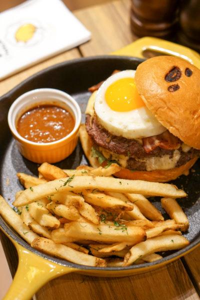 Gudetama Cafe Singapore - Lazy Egg Arrives in Singapore - Burger