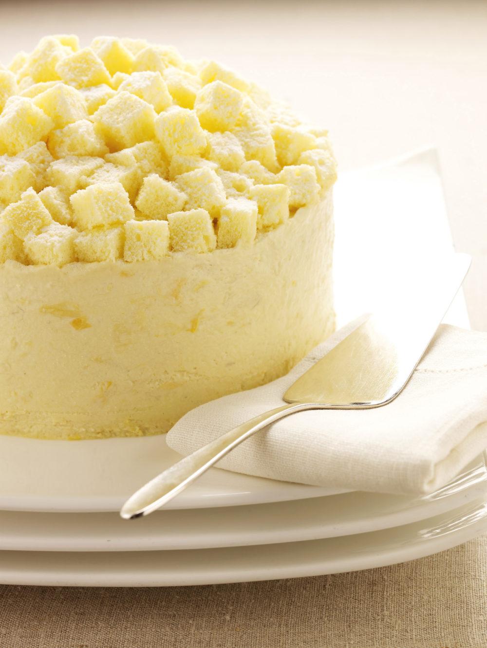 Goodwood Park Hotel Durian Mousse Cake (close up)