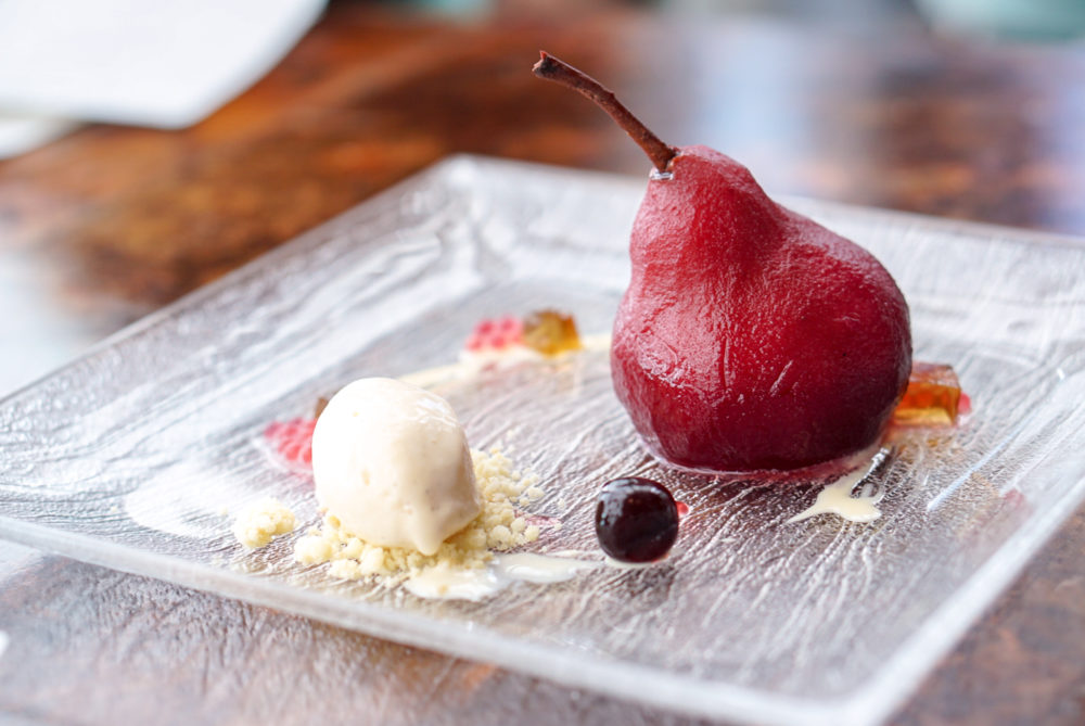 Monti Singapore 1st Anniversario - Red Wine Poached Pear