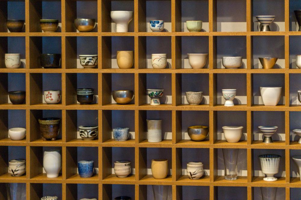 The Gyu Bar - Sake Cup Wall