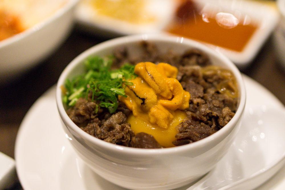 The Gyu Bar - Sukiyaki Beef with Uni & Yolk