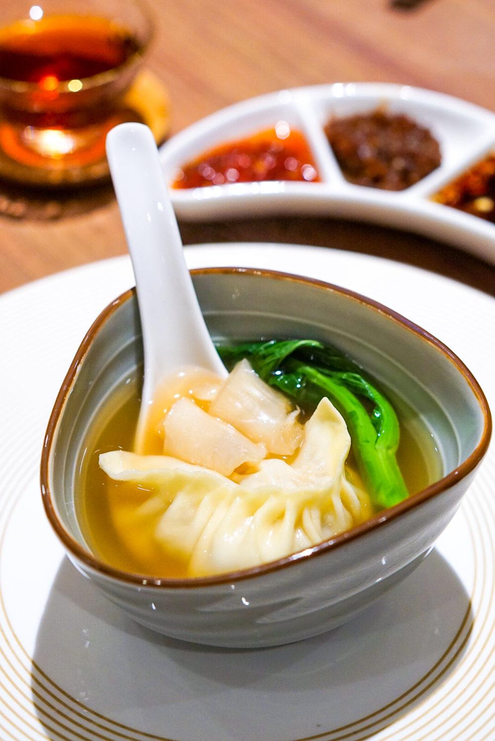 Si Chuan Dou Hua Grand Dim Sum Brunch - Steamed Dumpling with Matsutake and Fresh Fish Maw Soup