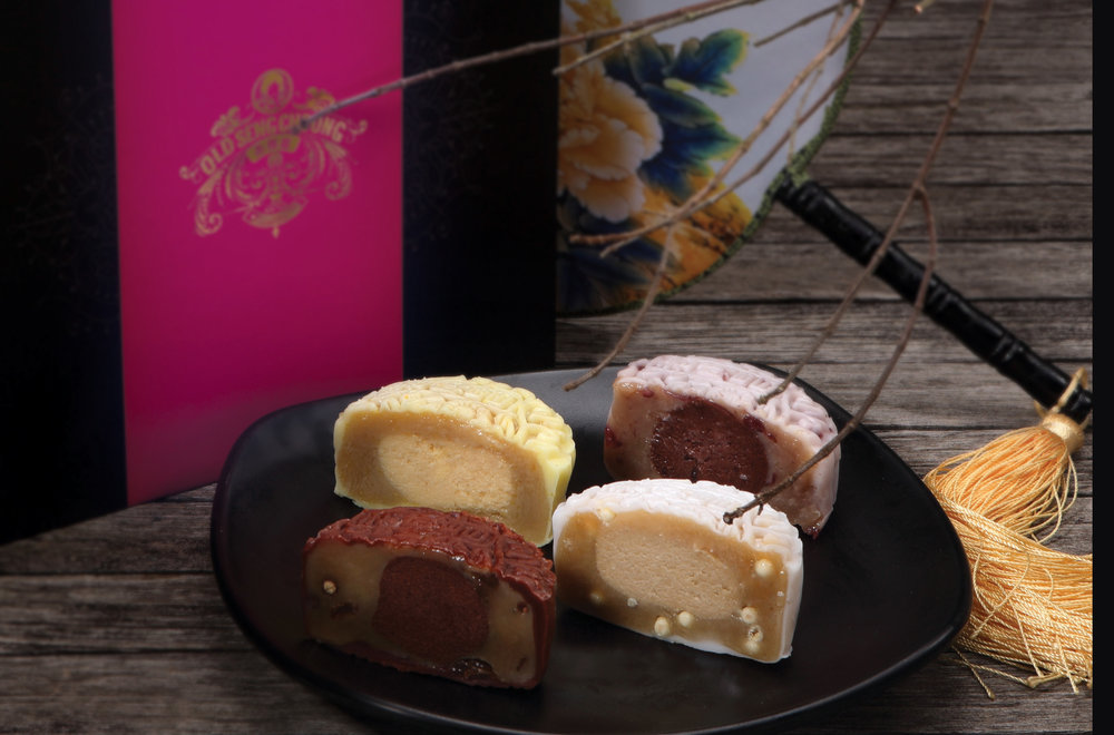 Old Seng Choong Heavenly Beauties Snowskin Mooncake - Brandy Cherry, Yuzu Martini, Bailey Whiskey with White Chocolate Pearl and Rum & Raisin with Dark Chocolate Pearl .jpg