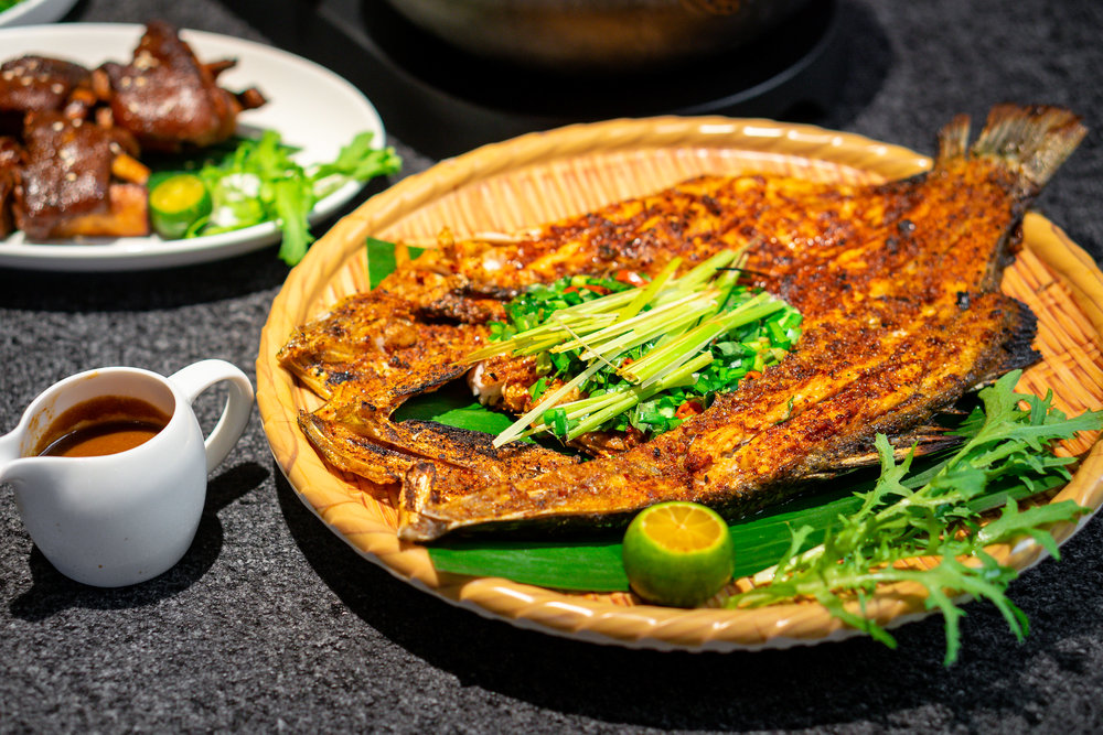 Grilled Seabass with Lemongrass