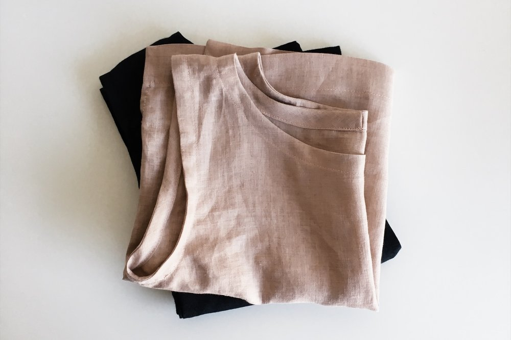 Two of the early Suki Top samples