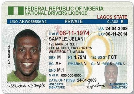 Nigerian Drivers Licence FRSC