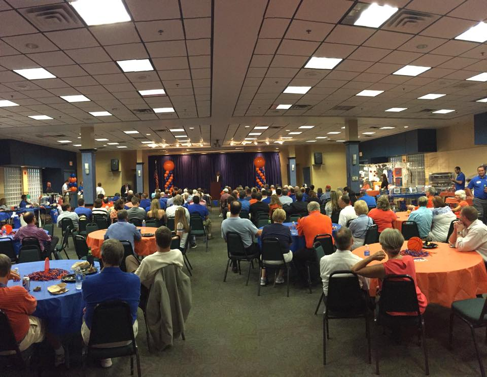Gator Gathering - Gator Gathering is an annual event when we welcome a member of the Florida Gator coaching staff to town to visit with Alumni, Fans and Friends and speak about the upcoming season.