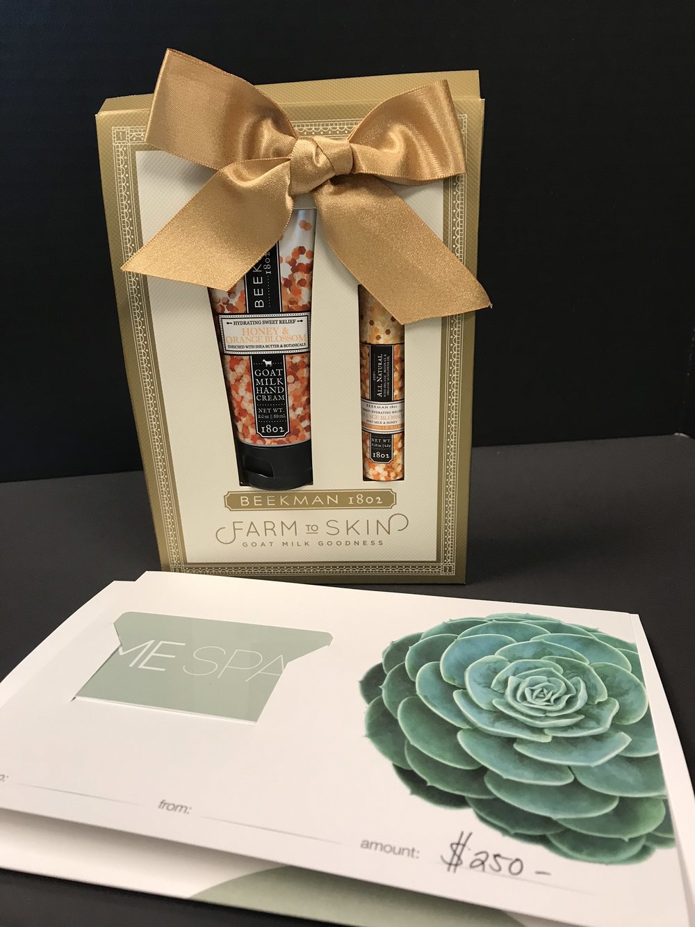 Me Spa $250 gift certificate and hand cream set - value of $265