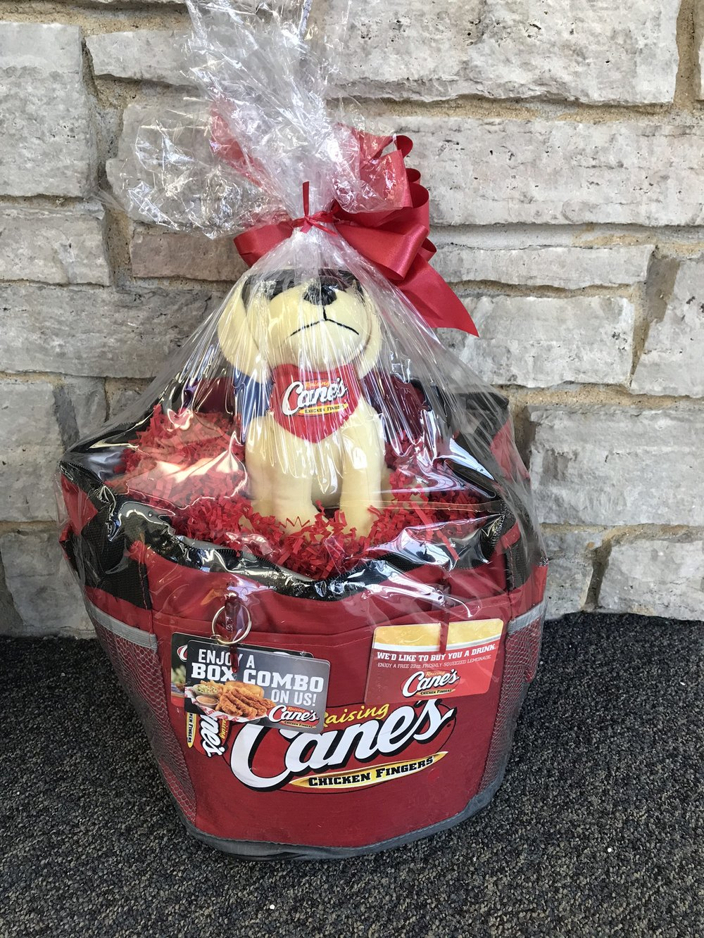 Raising Canes thermal with gift cards, t-shirt and more! - value  $40