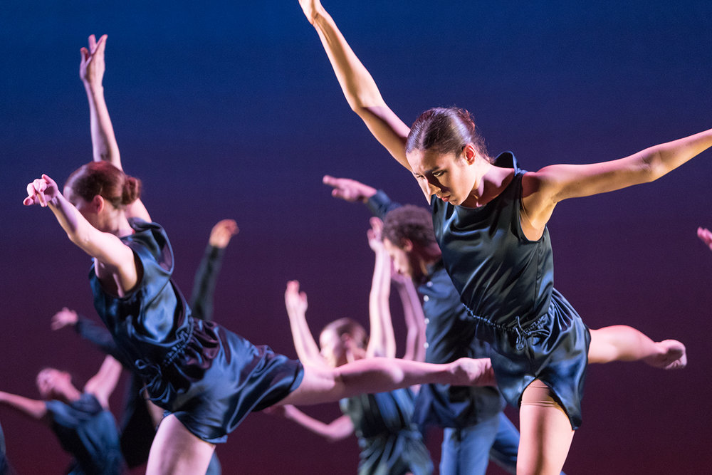 Students in the University of Iowa's Department of Dance perform in Dance Gala 2018 in Space Place Theater on Monday, Oct. 8, 2018.