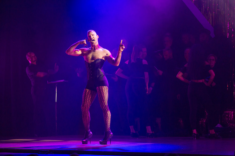 """Matthew Hollis (aka Mattrick Swayze) performs in The Chicago Tap Theatre's """"Tapped! For the Very Fist Time!"""" at the Athenaeum Theater in Chicago on Saturday, June 29, 2018."""