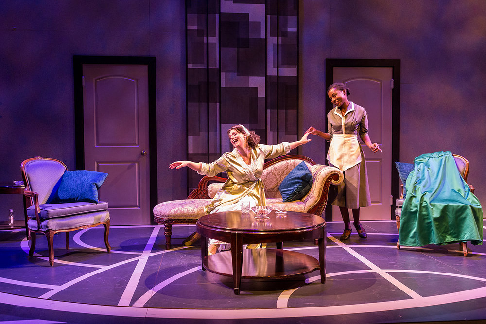 """Students in the University of Iowa Department of Theatre Arts perform in the play """"By the Way, Meet Vera Stark"""" at the University of Iowa Theater Building on Tuesday, Jan. 30, 2018."""