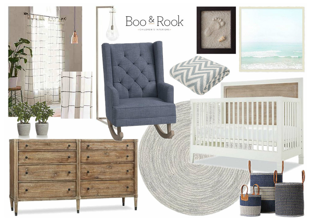 Boo & Rook boston massachusetts interior designer nursery designer baby boy beach modern nursery