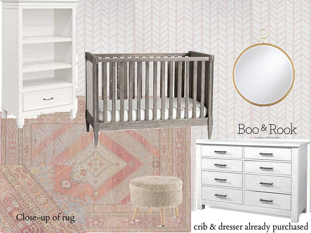 Pink and gold llama theme baby girl e-design nursery, the dream nursery movement, #dreamnurserymovement.jpg