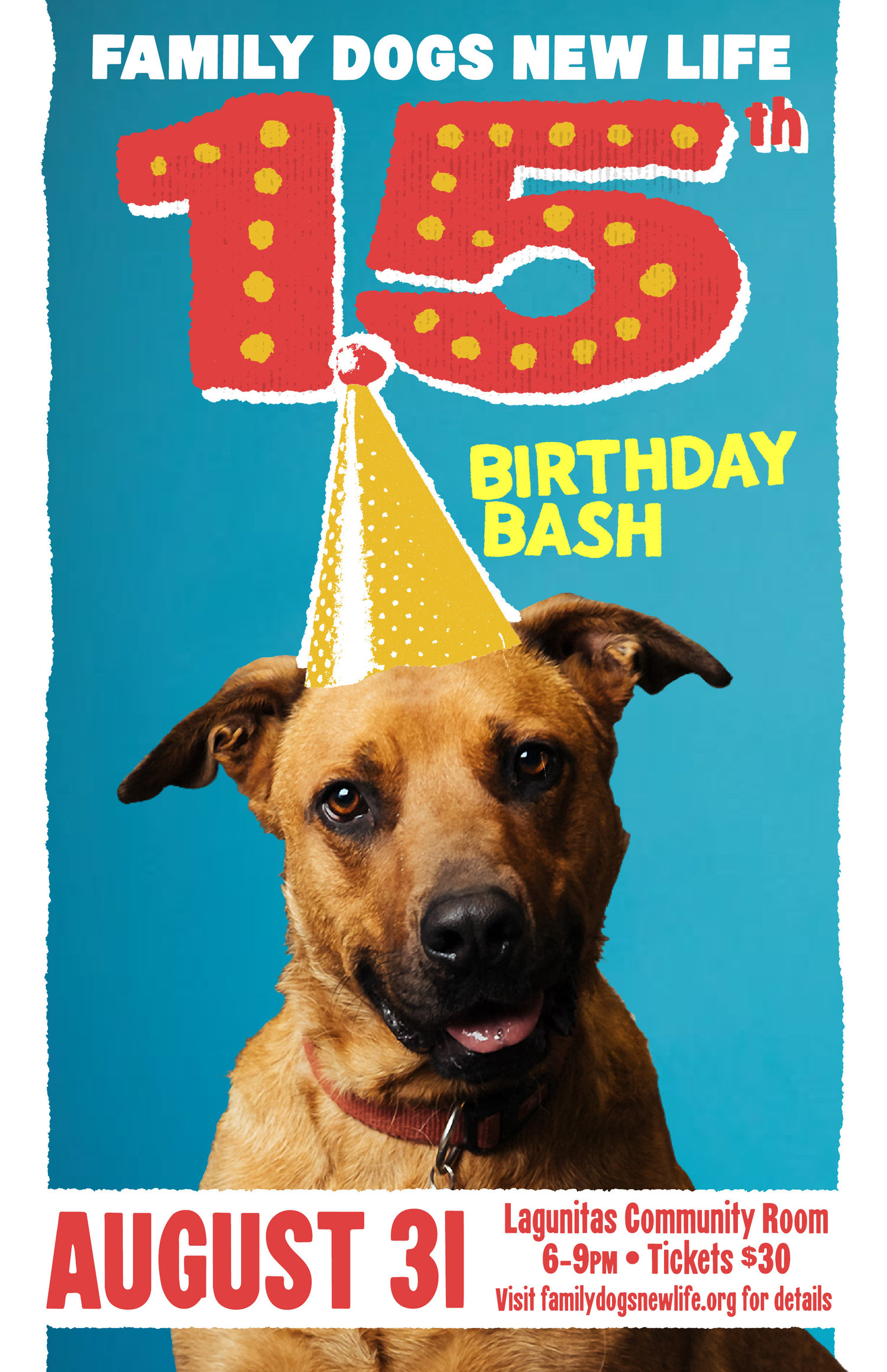 Family Dogs New Life 15th Birthday Bash Shelter