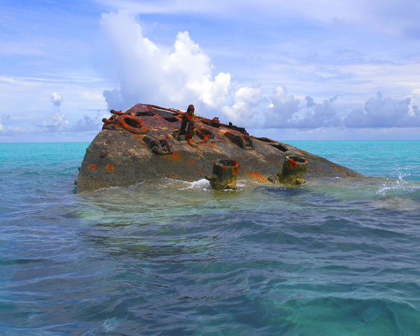 THE VIXEN, a shipwreck in Bermuda.