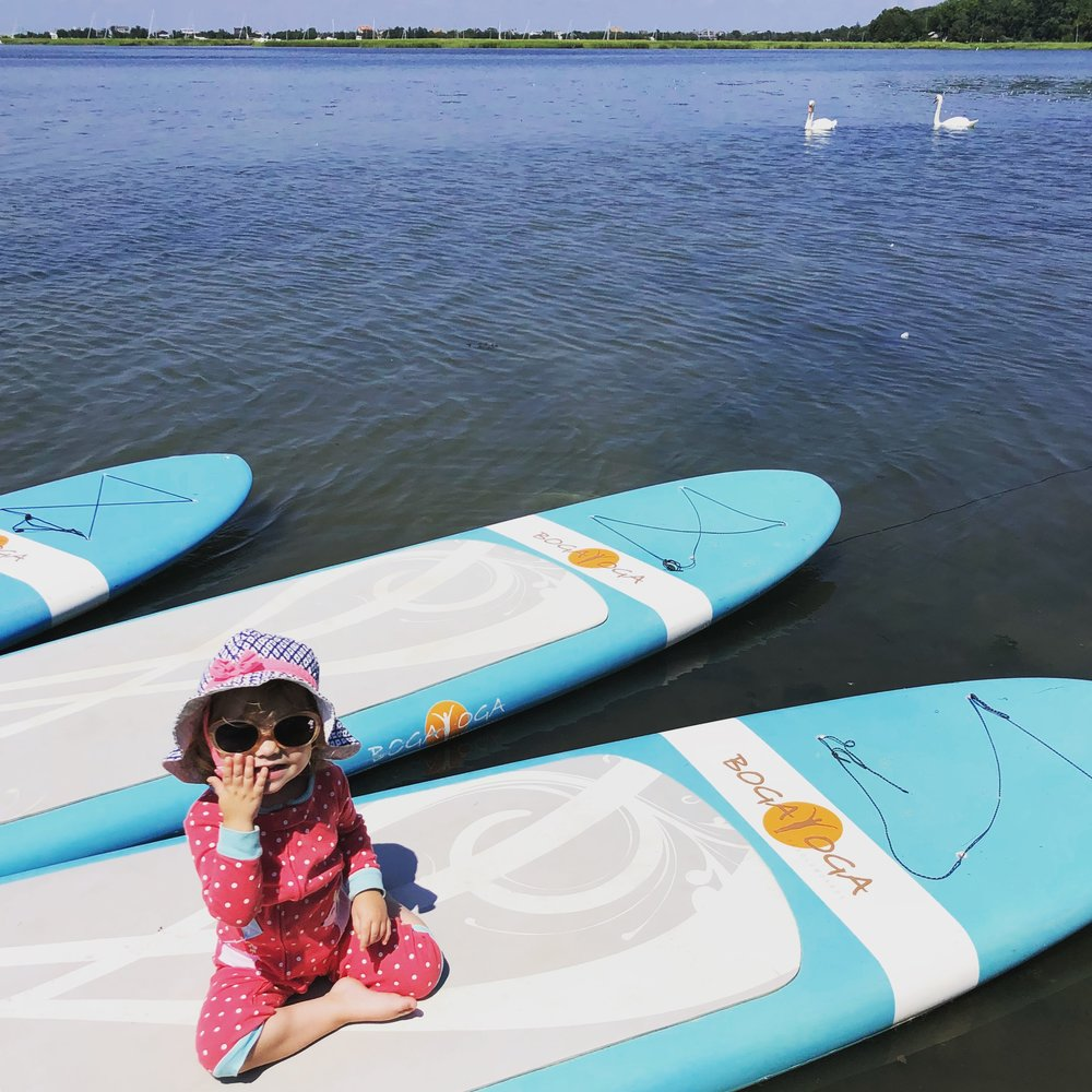 Paddleboard SUP Yoga at Peaceful Warrior Yoga Center