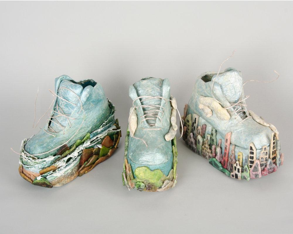 """3 Landscape Shoes  - 12""""x7""""x5"""""""