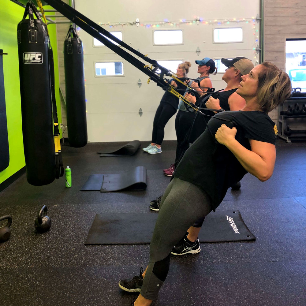 Group Training - Our small group trainings focus on science based, results driven interval training that will have your body burning fat long after you walk out the door. If you are looking to build lean muscle, burn fat, and increase your endurance this is the place you want to be.