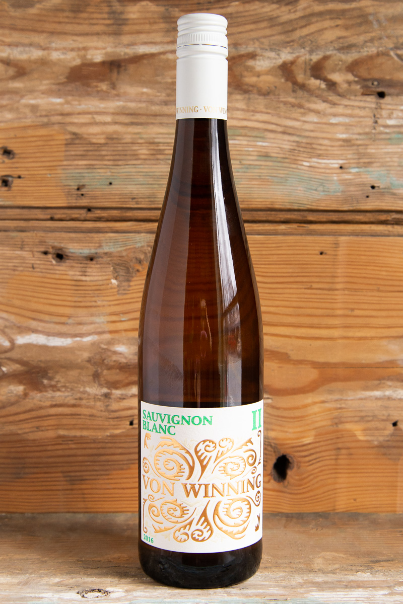 Von Winning Sauvignon Blanc II 2016 - Retail: $31.95 | Sale $28.75This German Sauvignon Blanc expresses amazing layers of stone fruit, blanched almonds, white peach, and a puree of tropical notes, vibrant minerality and a touch of creaminess that glues the whole experience together. Lively and grippy, it finishes eloquently and leaves you reaching immediately for another glass.100% Sauvignon BlancBiodynamic