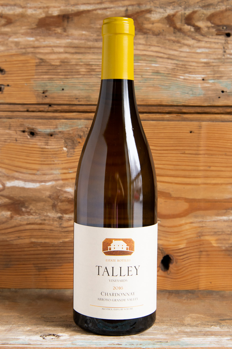 Talley Vineyards Chardonnay 2016 - Retail: $29.95 | Sale $26.95It's magical how this Arroyo Grande Valley Chardonnay packs both subtlety and richness into the same package. This wine opens with light aromas of honeysuckle, golden apple, and brioche before intensifying into cashew, peach, and tangerine. The palate surrounds caramelized peach and apple flavors yet cuts through with lemony acidity and a chalky texture, finishing with light caramel and butter. Enjoy this classic Chardonnay with light seafood fare, such as steamed mussels or Dungeness crab. It's an estate Chardonnay that will keep for at least 7-8 years.100% Chardonnay94 points Wine Enthusiast92 points Jeb Dunnuck91 Points Wilfred Wong of WineSustainable